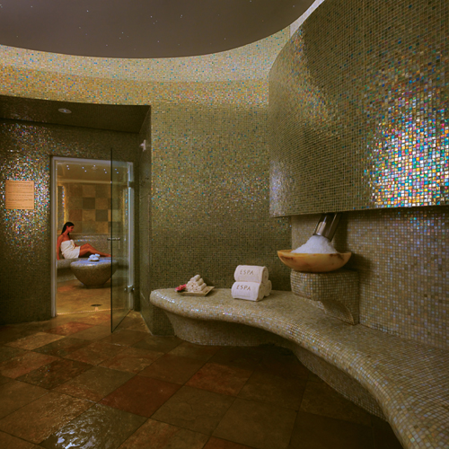 Steam room at Acqualina