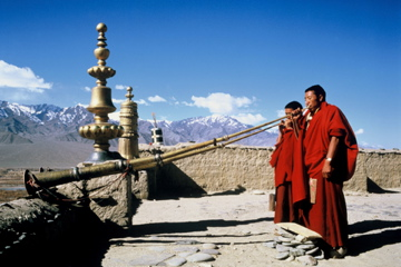 Shakti Ladakh Buddhist Monks at Thiksey Monastery